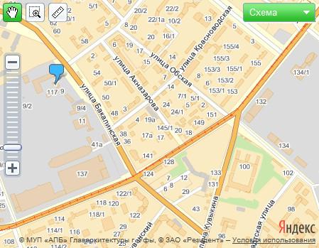 Посмотреть схему на Яндекс-